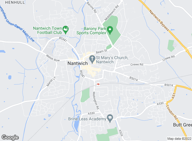 Map for Martin & Co, Nantwich - Lettings & Sales