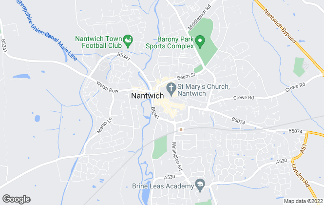 Map for Wright Manley, Nantwich