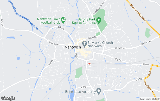 Map for Wright Marshall Estate Agents, Nantwich