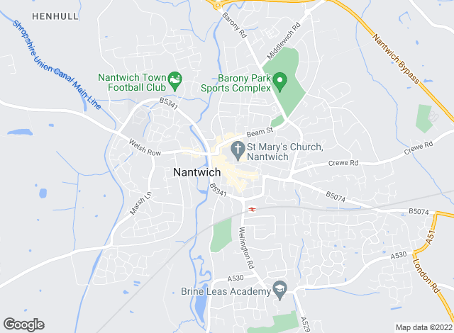 Map for Bridgfords, Nantwich