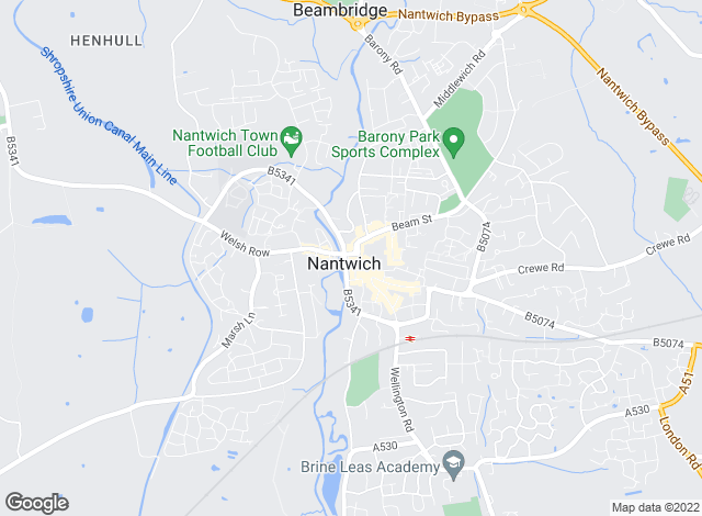 Map for Temples Property Management, Nantwich