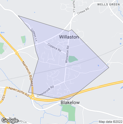 Map of property in Willaston