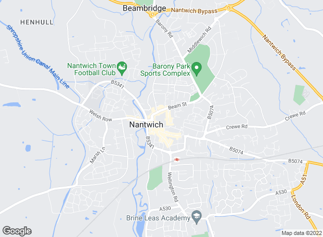 Map for Baker Wynne & Wilson, Nantwich