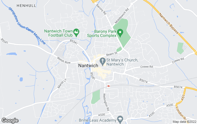 Map for Reeds Rains Lettings, Nantwich