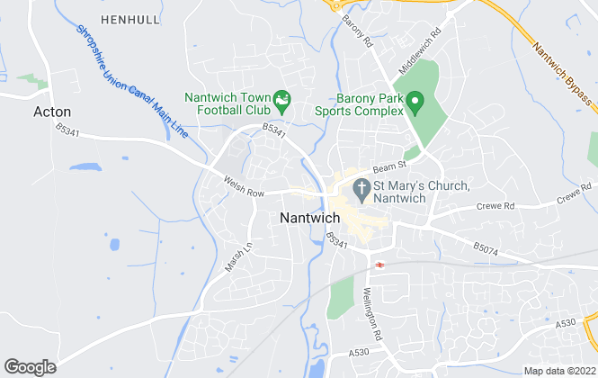 Map for Cheshire Lamont, Nantwich