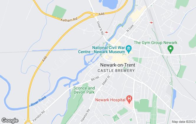 Map for Wood Moore & Co Ltd , Nottinghamshire