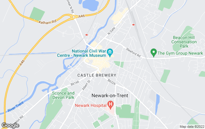 Map for Belvoir, Newark