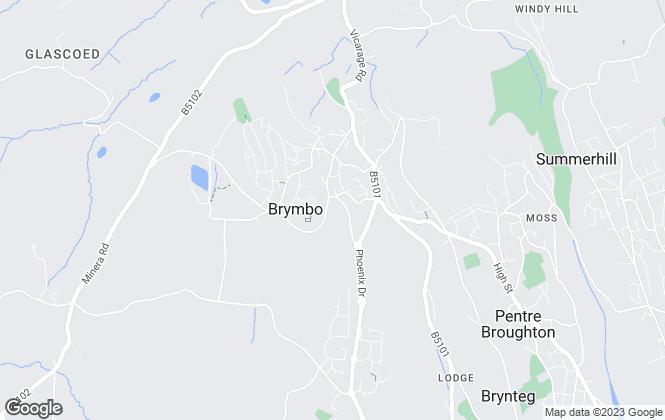 Map for Whitegates, Wrexham
