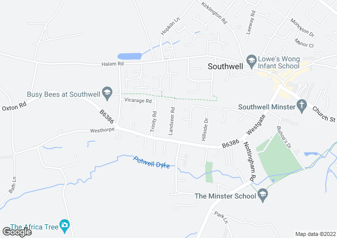 Map for Landseer Road, Southwell, Southwell, Nottinghamshire, NG25