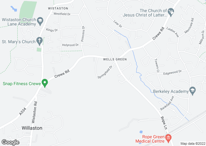 Map for Wistaston