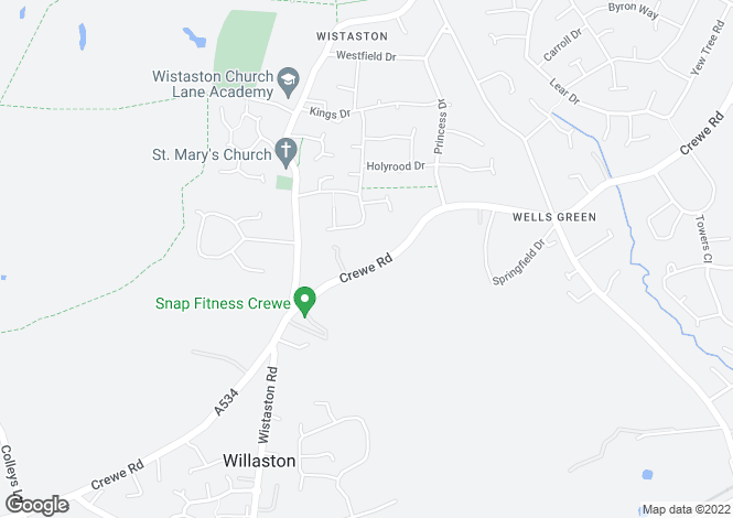 Map for Crewe Road, Wistaston, Crewe CW2