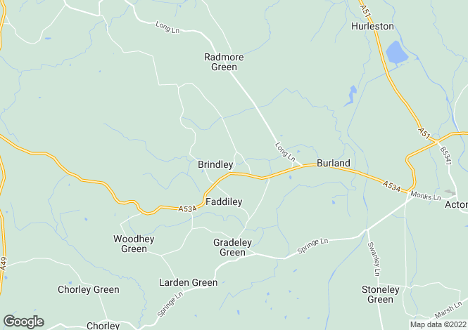 Map for Brindley