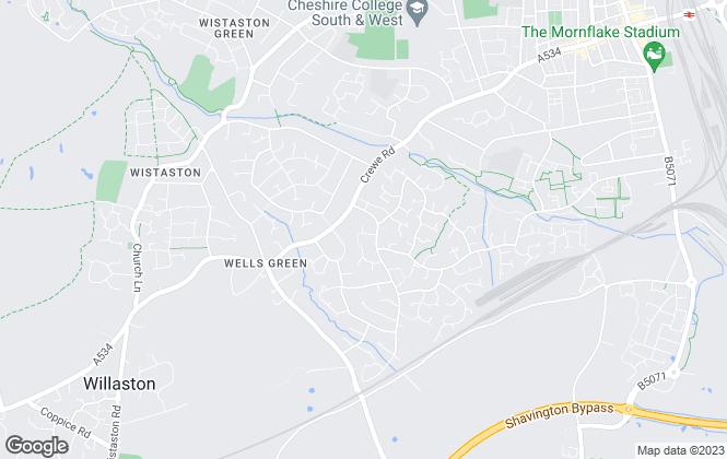 Map for Sarah Faulkner Lettings & Management Ltd, Crewe