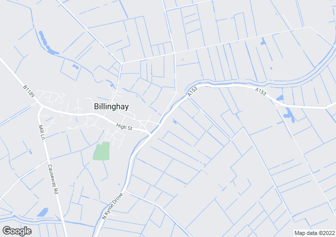 Map for Tattershall Road, Billinghay