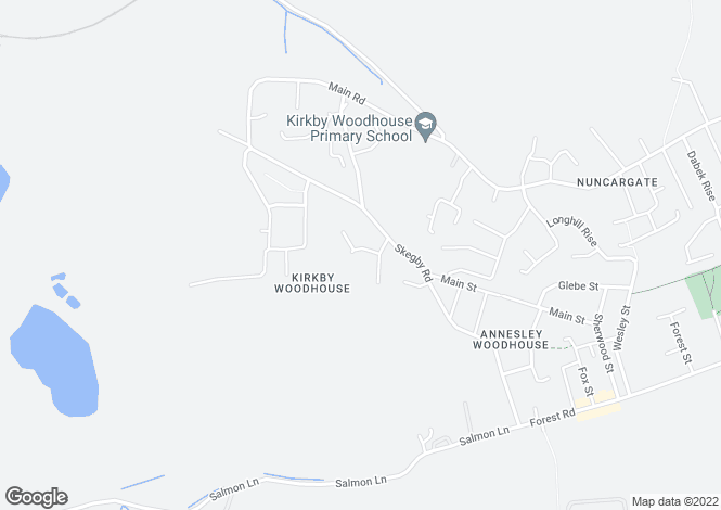 Map for Spire Close, Annesley Woodhouse