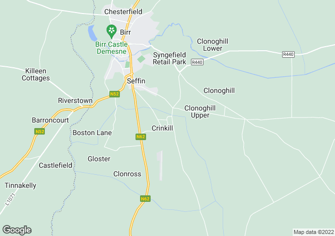 Map for 8 Ely Place, Crinkle, Birr, Offaly