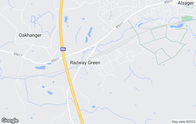 Map for Adam Fryer, Stoke on Trent