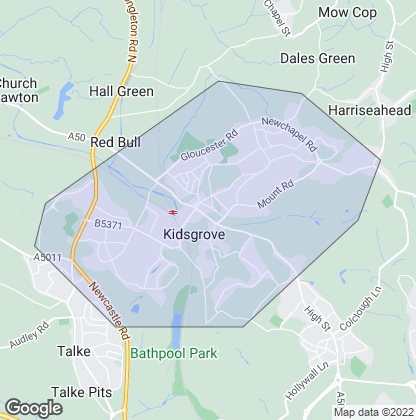 Map of property in Kidsgrove