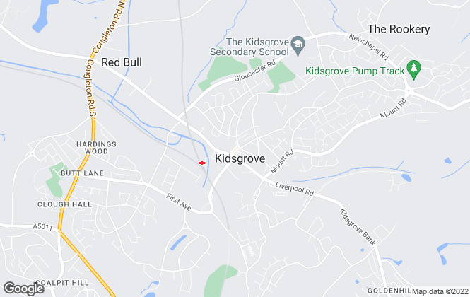 Map for Wakefield Giles, Kidsgrove