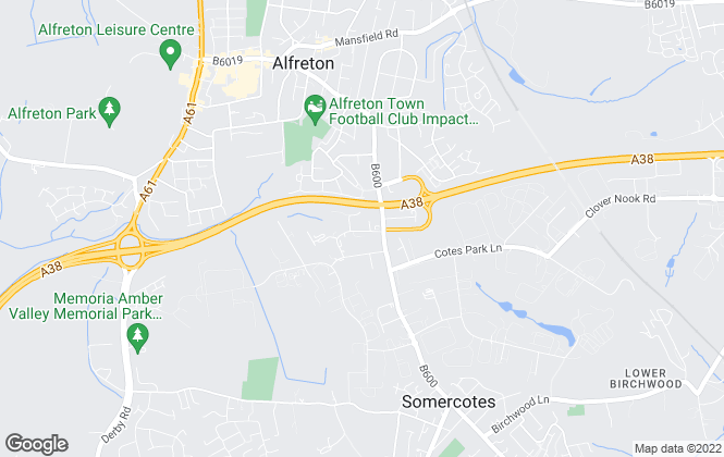 Map for Amber Homes, Alfreton
