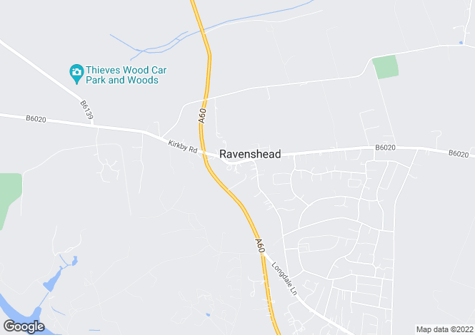 Map for Main Road, Ravenshead, Nottinghamshire