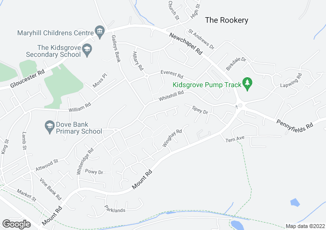 Map for Tawney Close, Stoke On Trent