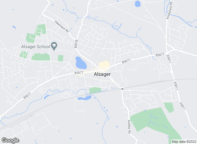 Map for Bridgfords, Alsager