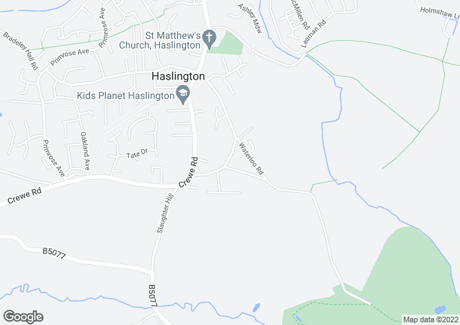 Map for Cross Road, Haslington, Crewe, Cheshire