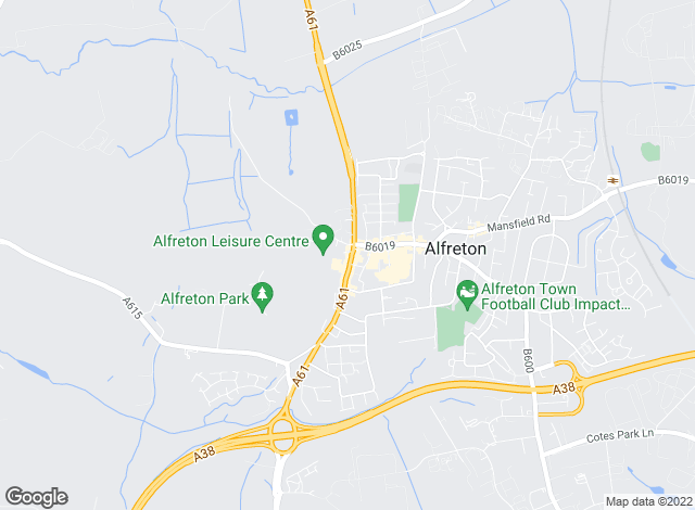 Map for YOUR MOVE, Alfreton