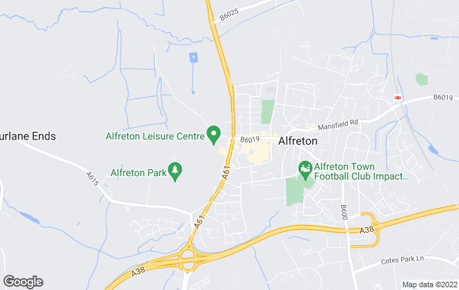 Map for Richard Savidge, Alfreton