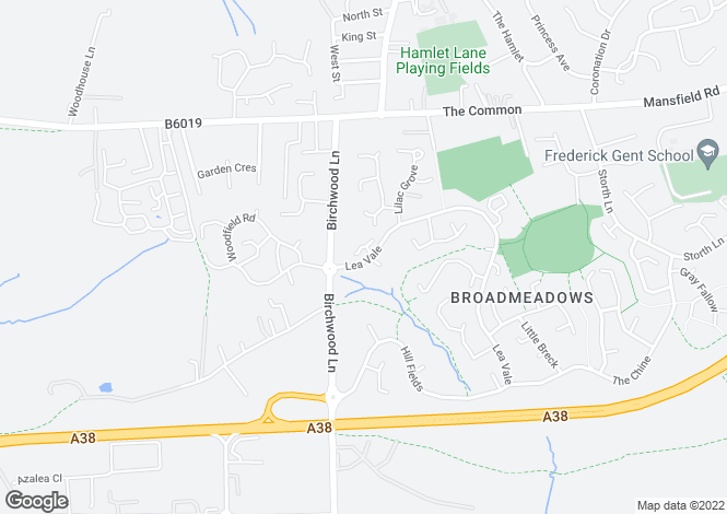 Map for Meadow Court, Broadmeadows,south Normanton, Alfreton DE55