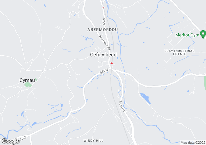 Map for Ffrwd Road, Cefn-Y-Bedd, Wrexham