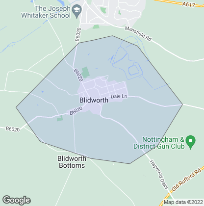 Map of property in Blidworth
