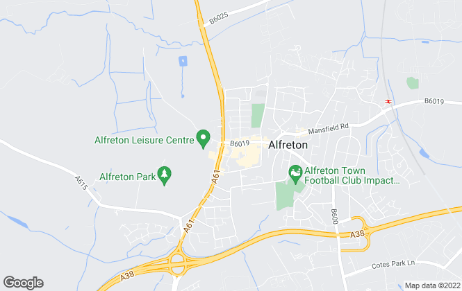 Map for Hall and Benson , Alfreton
