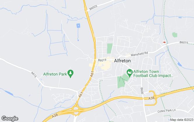 Map for Hall and Benson , Alfreton