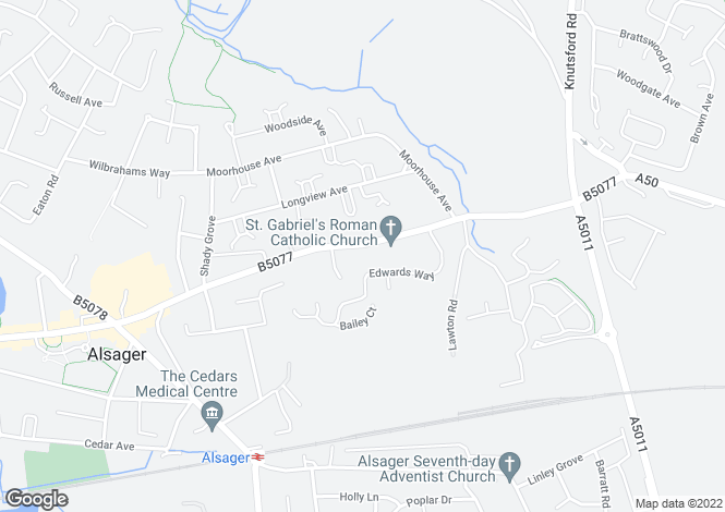 Map for Lawton Road, Alsager