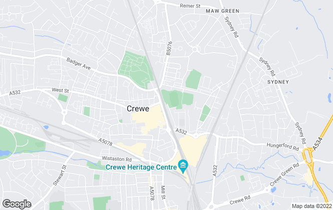 Map for Crewe Student Accommodation, Crewe