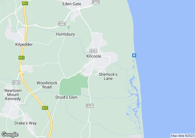 Map for 65 Woodstock, Kilcoole, Co Wicklow