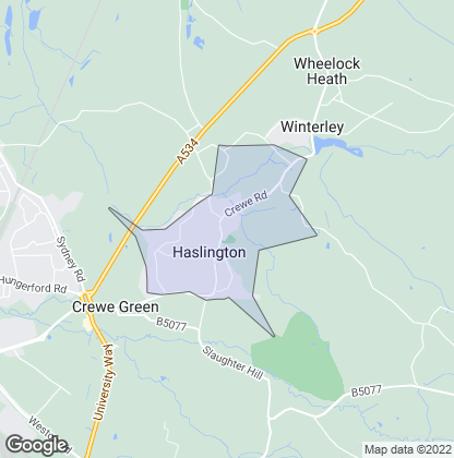 Map of property in Haslington