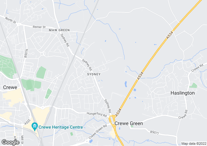 Map for Sydney Road, Sydney, Crewe