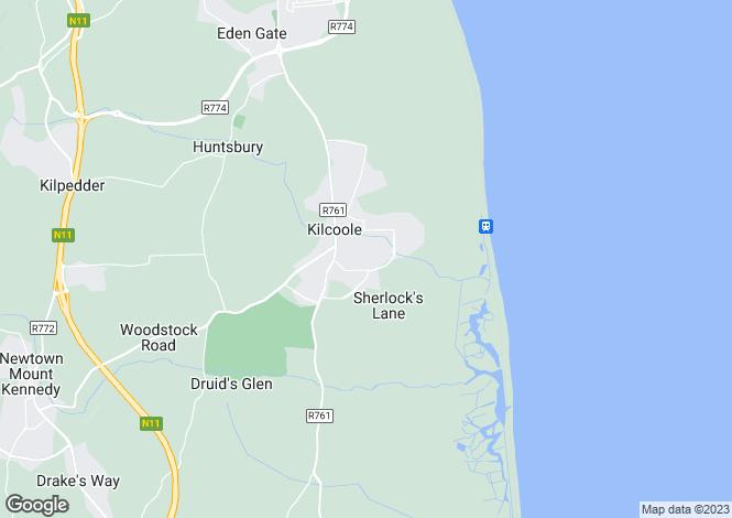 Map for 169 Beachdale, Sea Road, Kilcoole, Co Wicklow