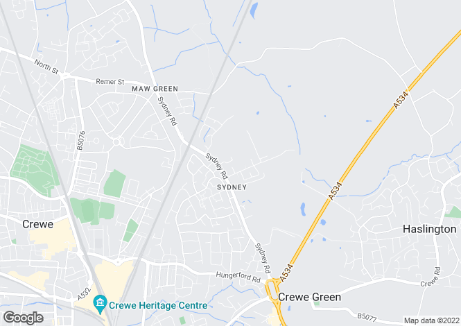 Map for Mayfair Drive, Crewe, Cheshire