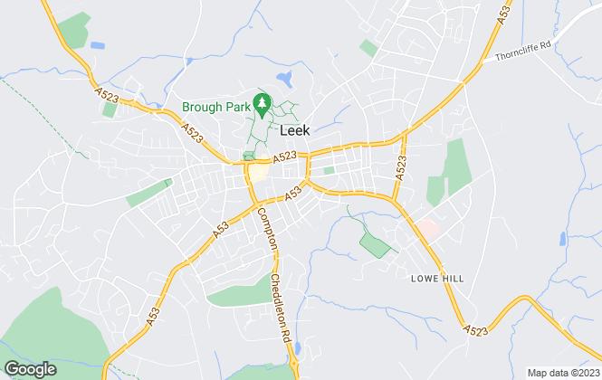 Map for Samuel Makepeace Bespoke Estate Agents, Leek