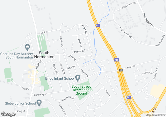 Map for Green Acres Drive, South Normanton, Alfreton, Derbyshire