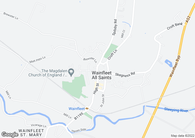 Map for High Street, Wainfleet, Skegness