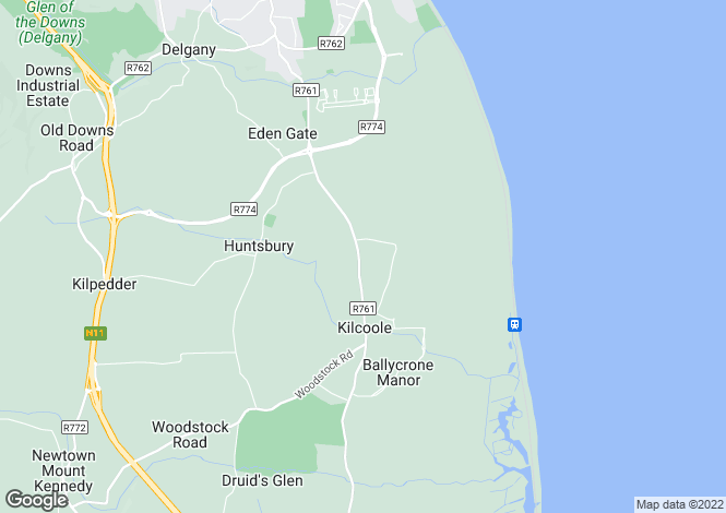 Map for 4 Beech Court, Kilcoole, Co Wicklow
