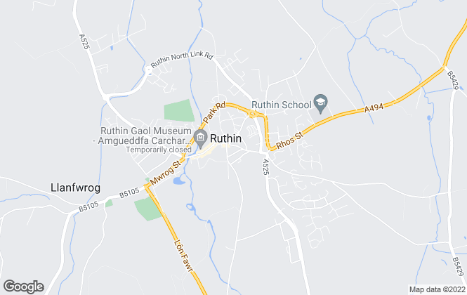 Map for Williams Estates, Ruthin