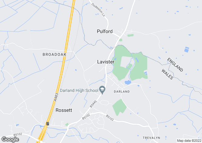 Map for Lavister, Wrexham, LL12