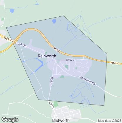 Map of property in Rainworth