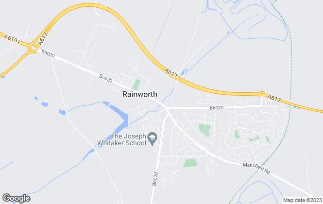 Map for Castlegate Estates & Lettings Ltd, Rainworth - Mansfield